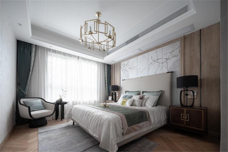 南宁品匠案例|天健和府毛坯房120平米新中式风格装修效果图